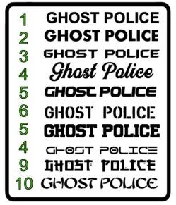 Ghost police